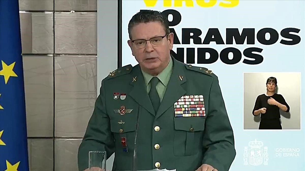 Laurentino Ceña, teniente general director operativo de la Guardia Civil.