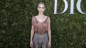 Jennifer Lawrence en París durante un evento de Dior el verano del 2017.