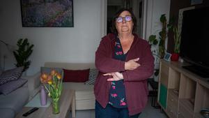 Una de las afectadas integradas en ACABA, en su piso de Sant Antoni que alquiló unos días en 2017 y por el que se enfrenta a una sanción de 60.001 euros.
