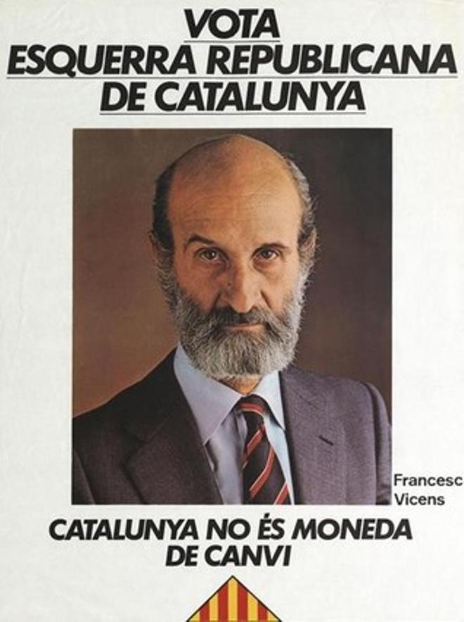 Cartell d'ERC per a les eleccions generals del 1982.