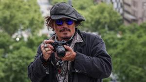 Johnny Depp, este viernes en Barcelona, en su visita al BCN Film Fest.