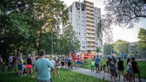 El apartamento en el que se ha registrado el incendio, en la localidad checa de Bohumin.