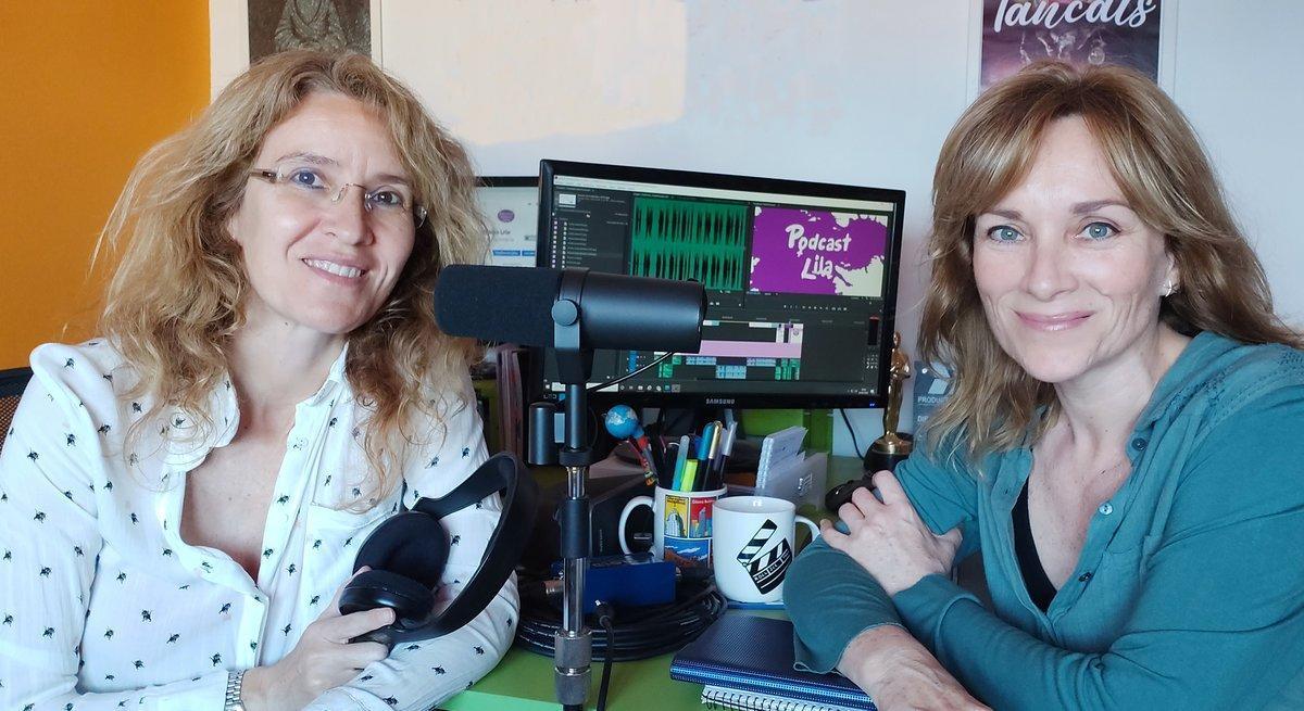 Marta Palencia-Lefler(izquierda) y Silvia Aranda, creadoras de ' Podcast Lila'.
