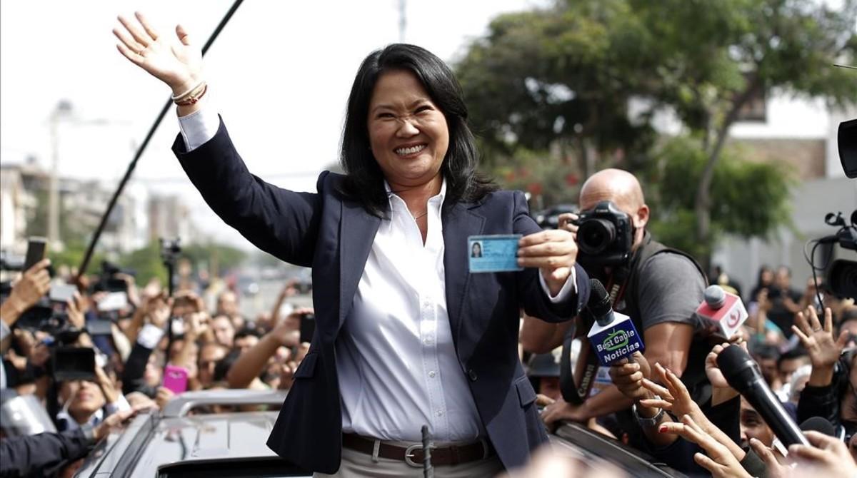 Keiko Fujimori passa a la segona volta al Perú amb un 88,8% escrutat
