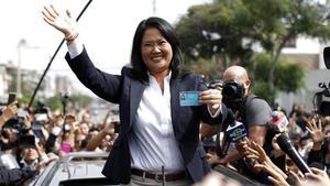 Keiko Fujimori, la líder opositora acusada de corrupción en Perú.