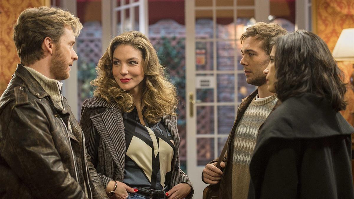 Grabación de la nueva temporada de la serie de TVE-1 'Cuéntame cómo pasó''.