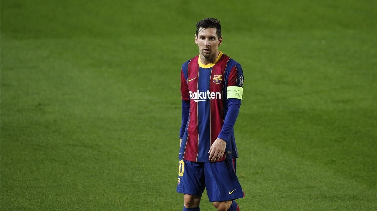 Messi, en el estreno europeo del Barça de Koeman ante el Ferencvaros.