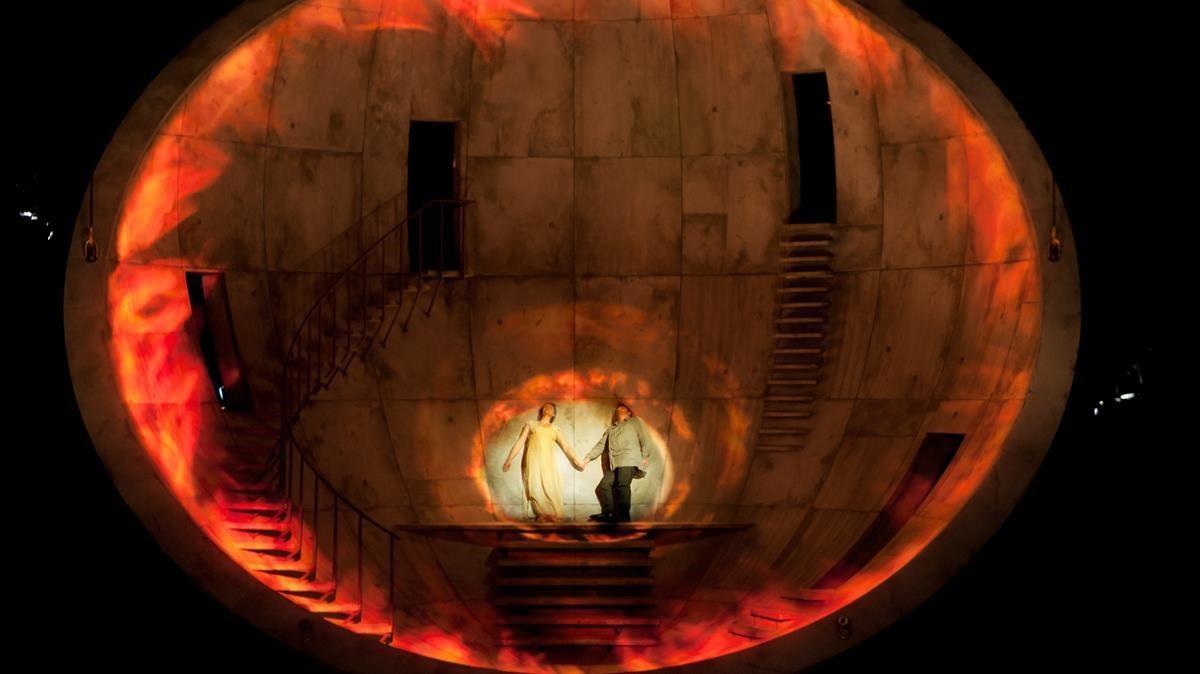 Aspecto de la escenofrafía en el segundo acto.