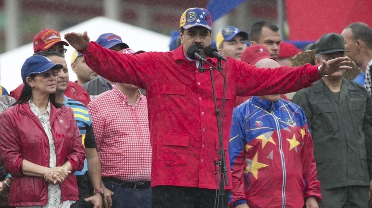Nicolás Maduro en un acto político el pasado 24 de marzo en Caracas.