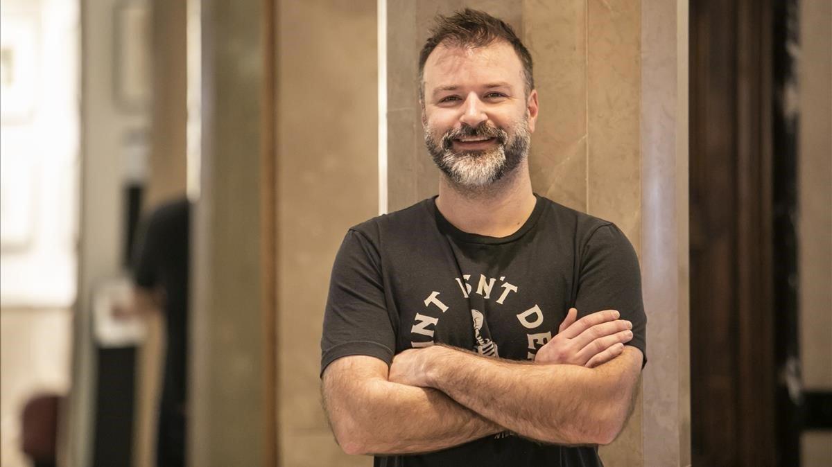 El escritor norteamericano Nickolas Butler, en un céntrico hotel de Barcelona.
