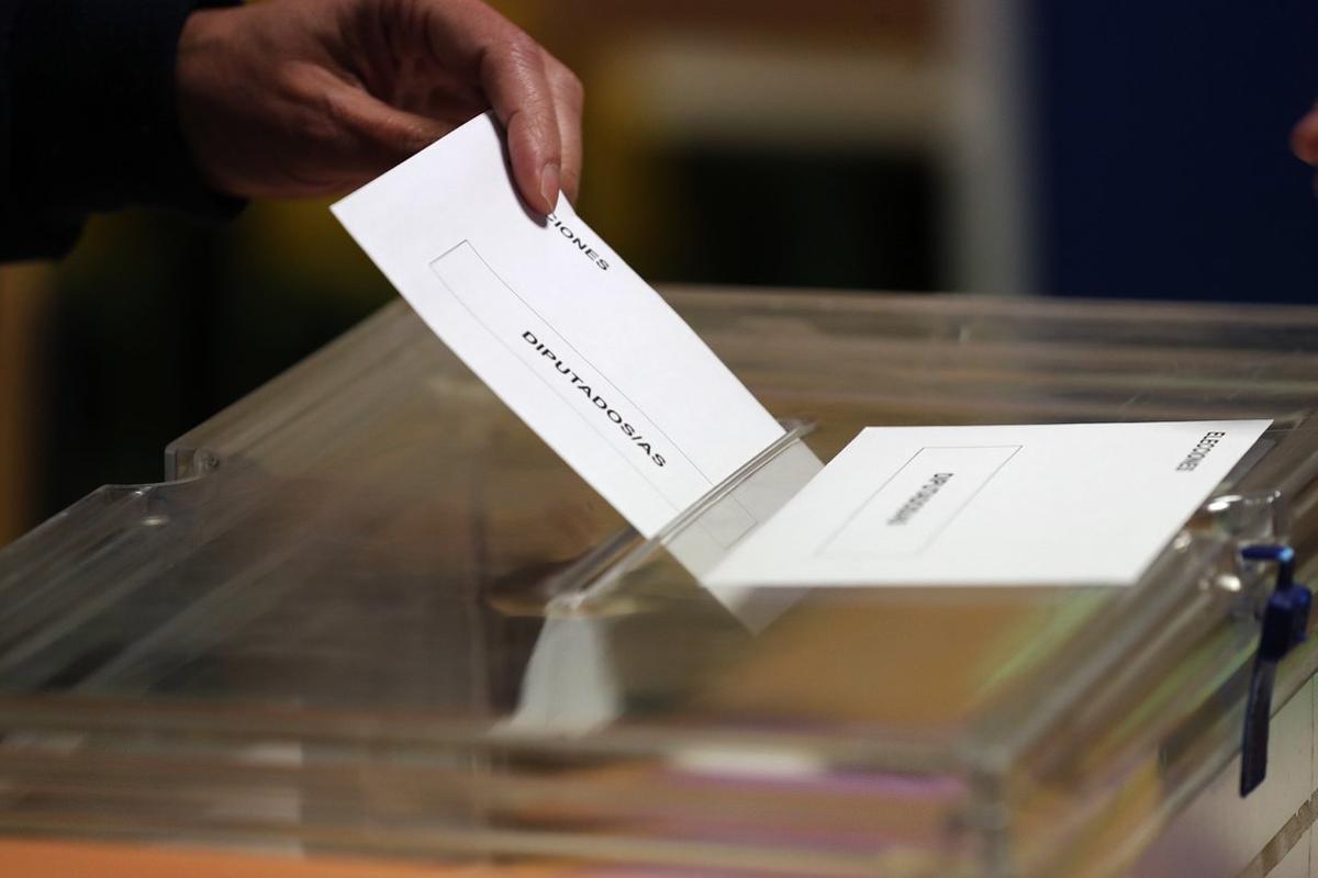 Imagen de archivo de uno voto de elecciones generales