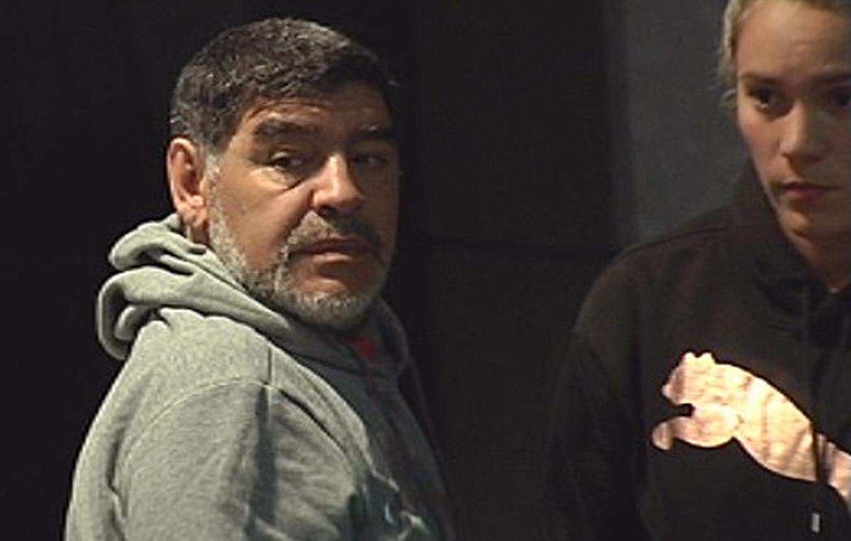 Diego Maradona, en febrero, en Madrid.