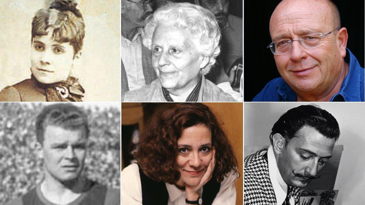 Dolors Aleu, Mercè Rodoreda, Vázquez Montalbán, Kubala, Montserrat Roig y Dalí.