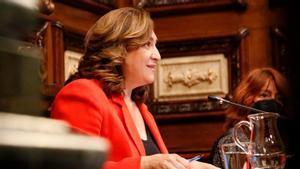Ada Colau, durante el pleno celebrado este 23 de junio en el Ayuntamiento de Barcelona