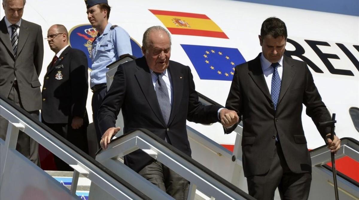 El rey Juan Carlos, a su llegada a La Habana.