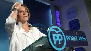 María Dolores de Cospedal,durante su etapa como secretaria general del Partido Popular, en julio del 2018.