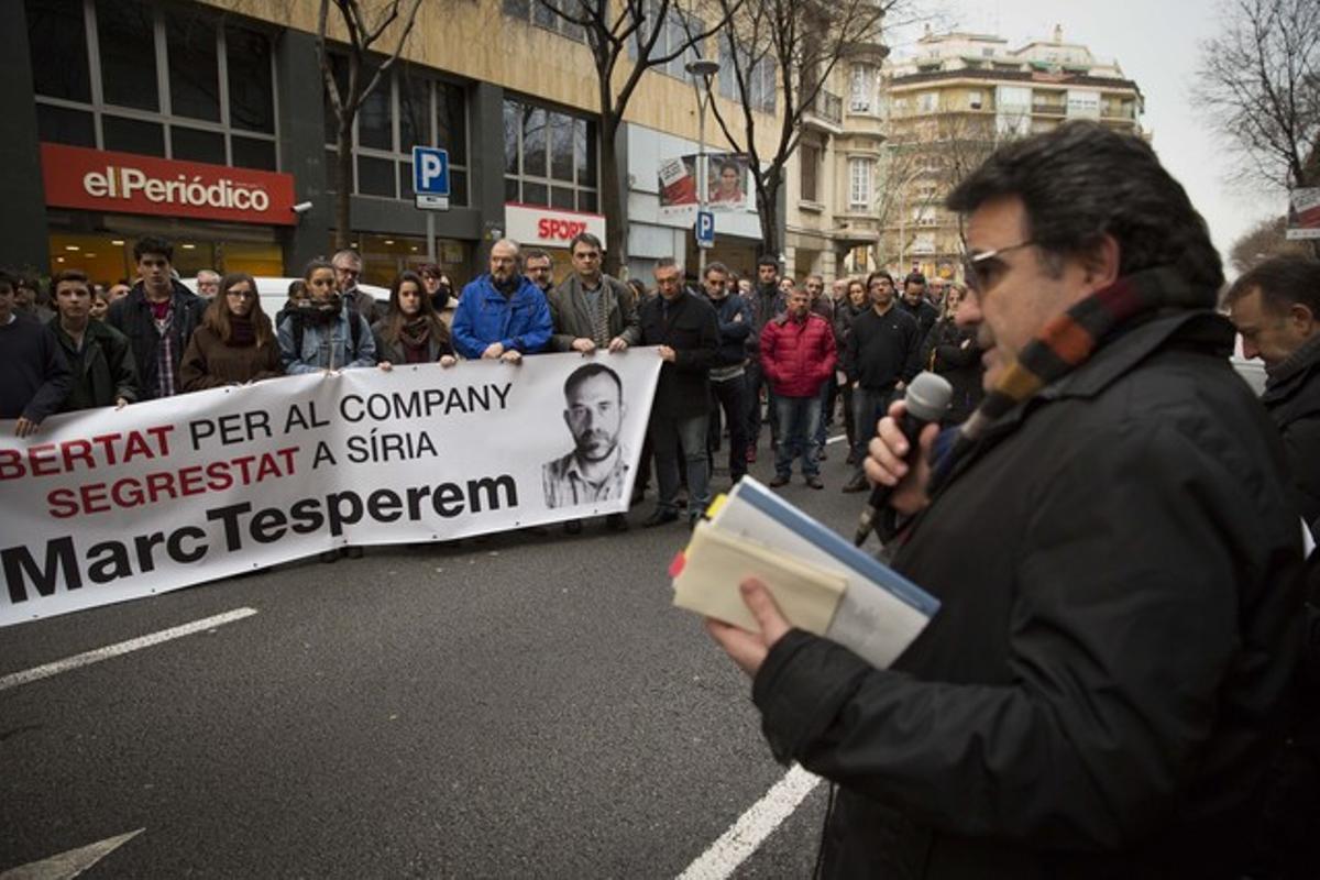 Concentración de apoyo a Marc Marginedas (22-1-2014).