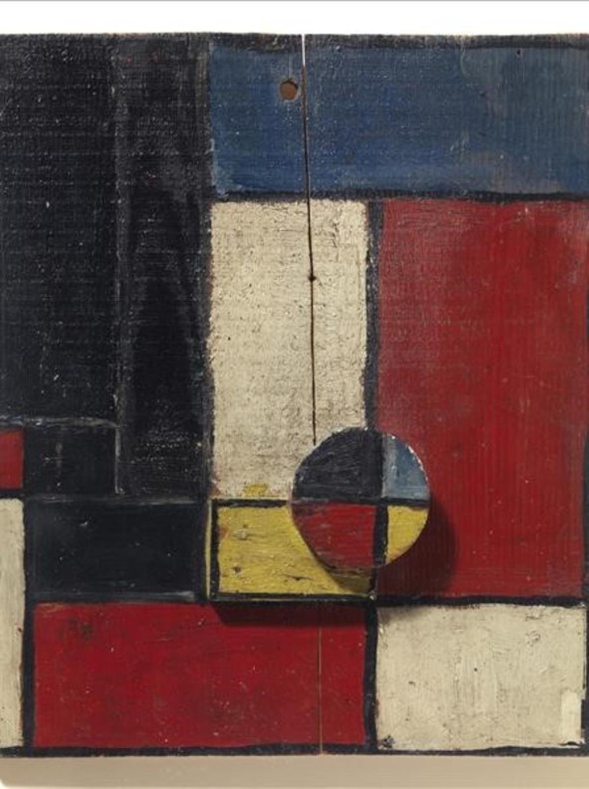 'Planos de color con dos maderas superpuestas' (1928), deJoaquín Torres-García, pieza de la colección del Macba.
