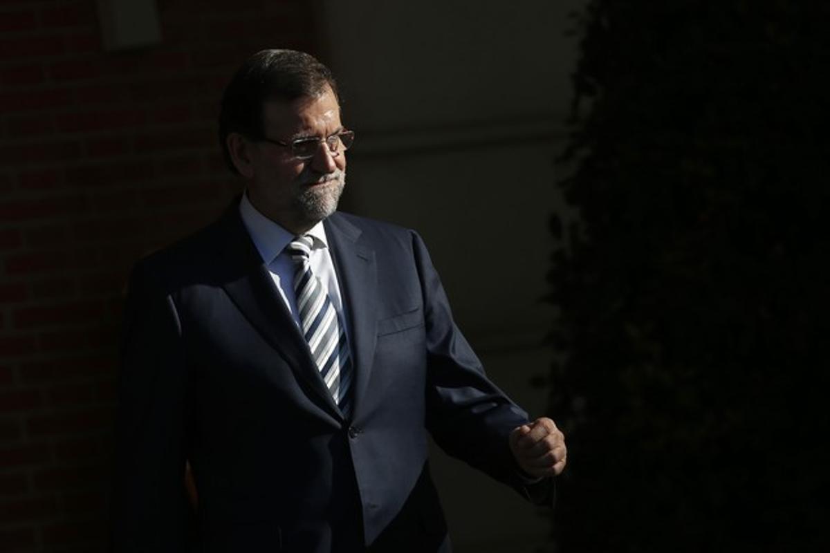 Mariano Rajoy, el miércoles, en la Moncloa.