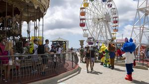El parque de atracciones del Tibidabo, en julio del 2020.
