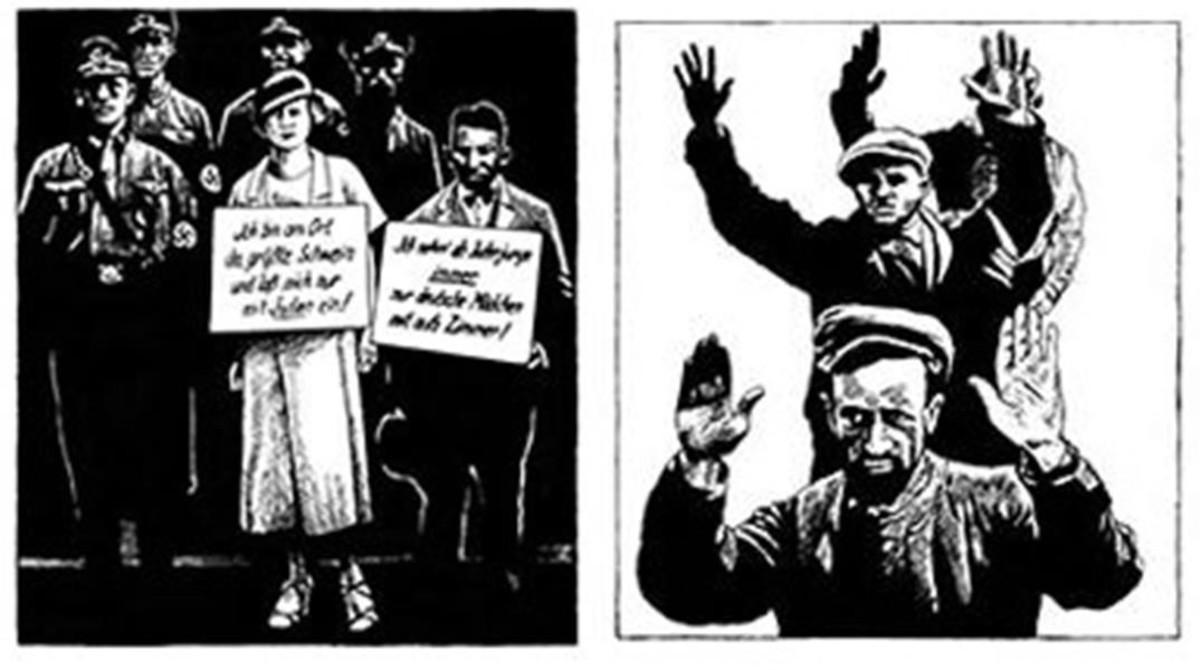 Ilustraciones deFrédéric Pajak para su ensayo gráfico 'Manifiesto incierto', sobre Walter Benjamin.