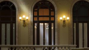 Despacho del 'president' de Catalunya en el Parlament.