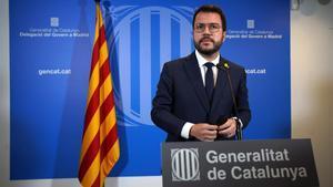 El 'president' de la Generalitat, Pere Aragonès.