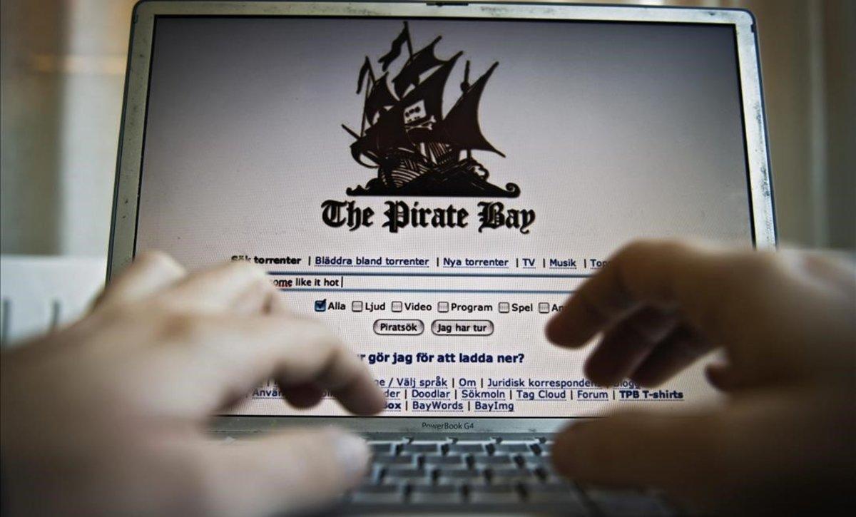 Imagen de archivo de la portada principal de la página web The Pirate Bay.