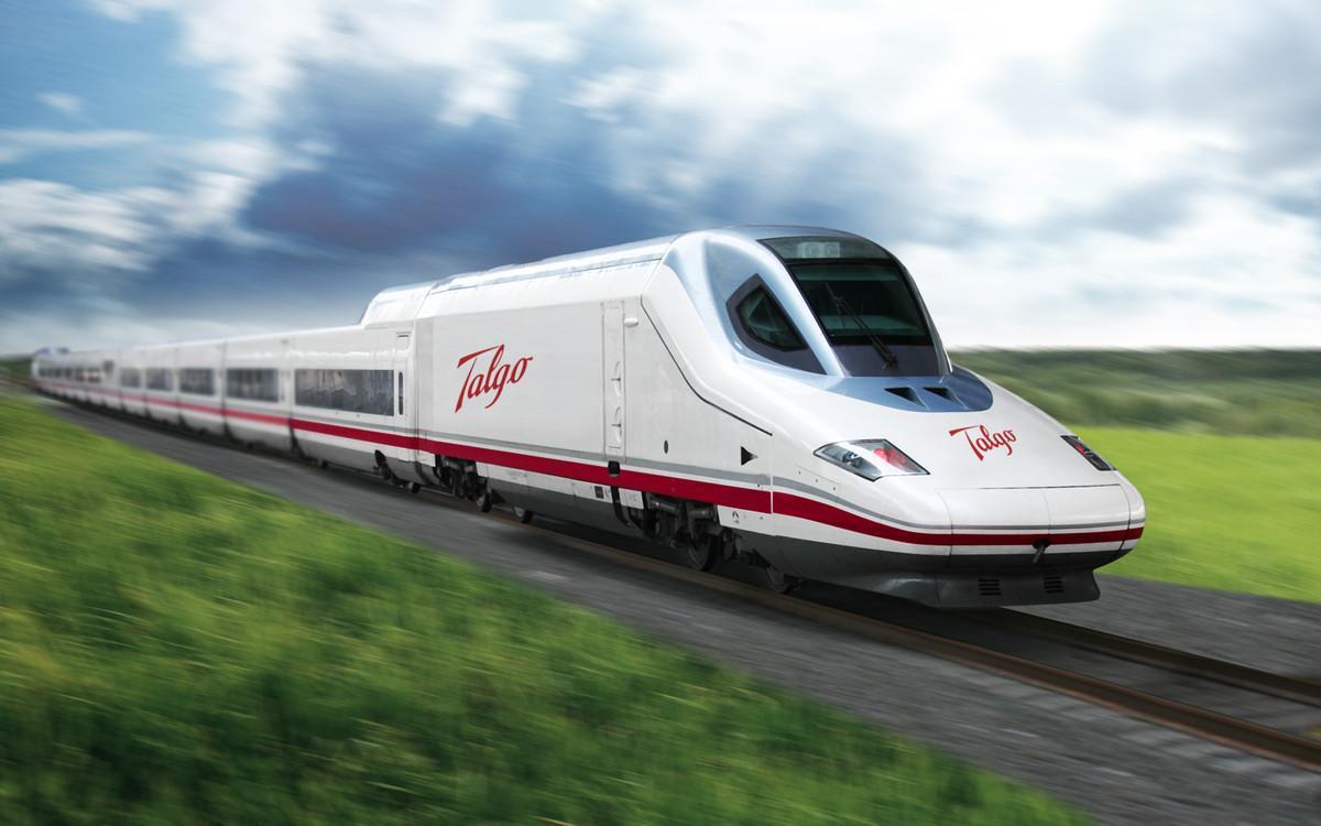 Tren Talgo 350 de alta velocidad.