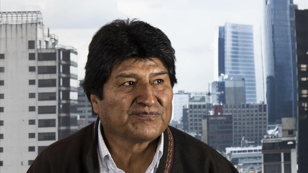 Evo Morales, durante la entrevista a El Periódico.