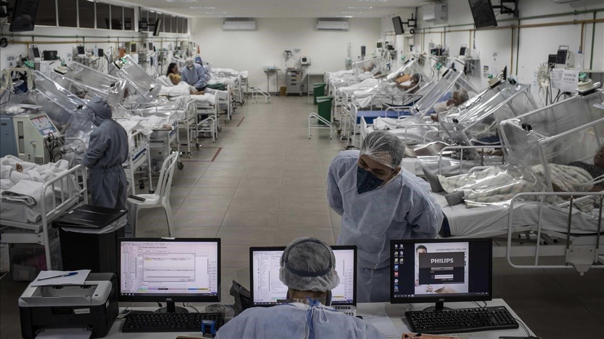 Hospital Municipal de Campaña en la ciudad de Manaos, Amazonas (Brasil).