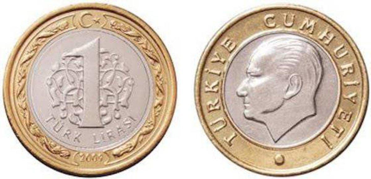 Una lira turca.