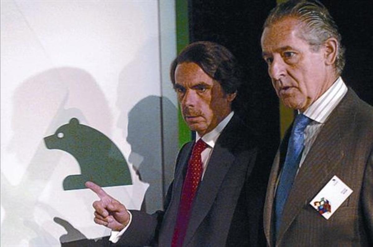 José María Aznar y Miguel Blesa en el 2006.