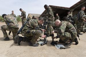 Militares franceses de la operación Barkhane en Malí.