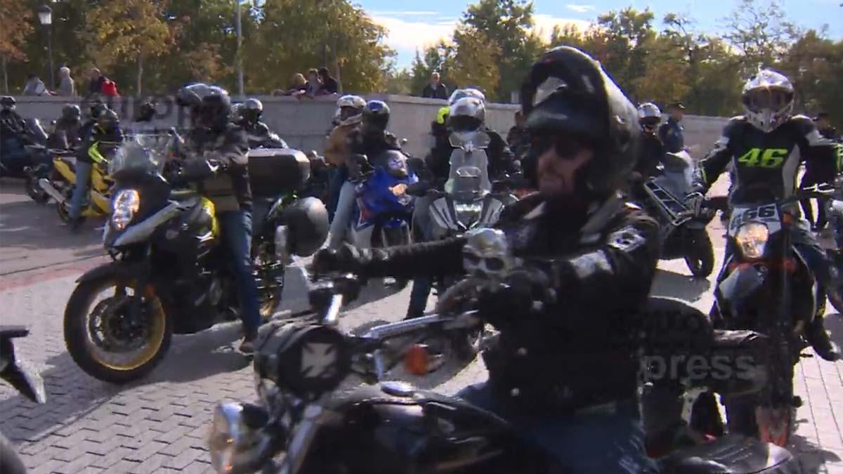 Movilización de motoristas en Madrid por la seguridad en carreteras