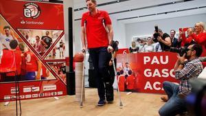 Pau Gasol, en la presentación de su academia el pasado día 13 en Barcelona