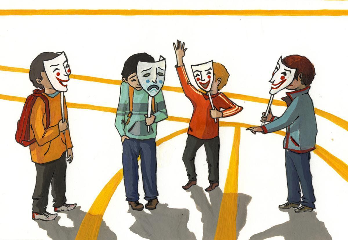 Dibujo sobre el 'bullying'