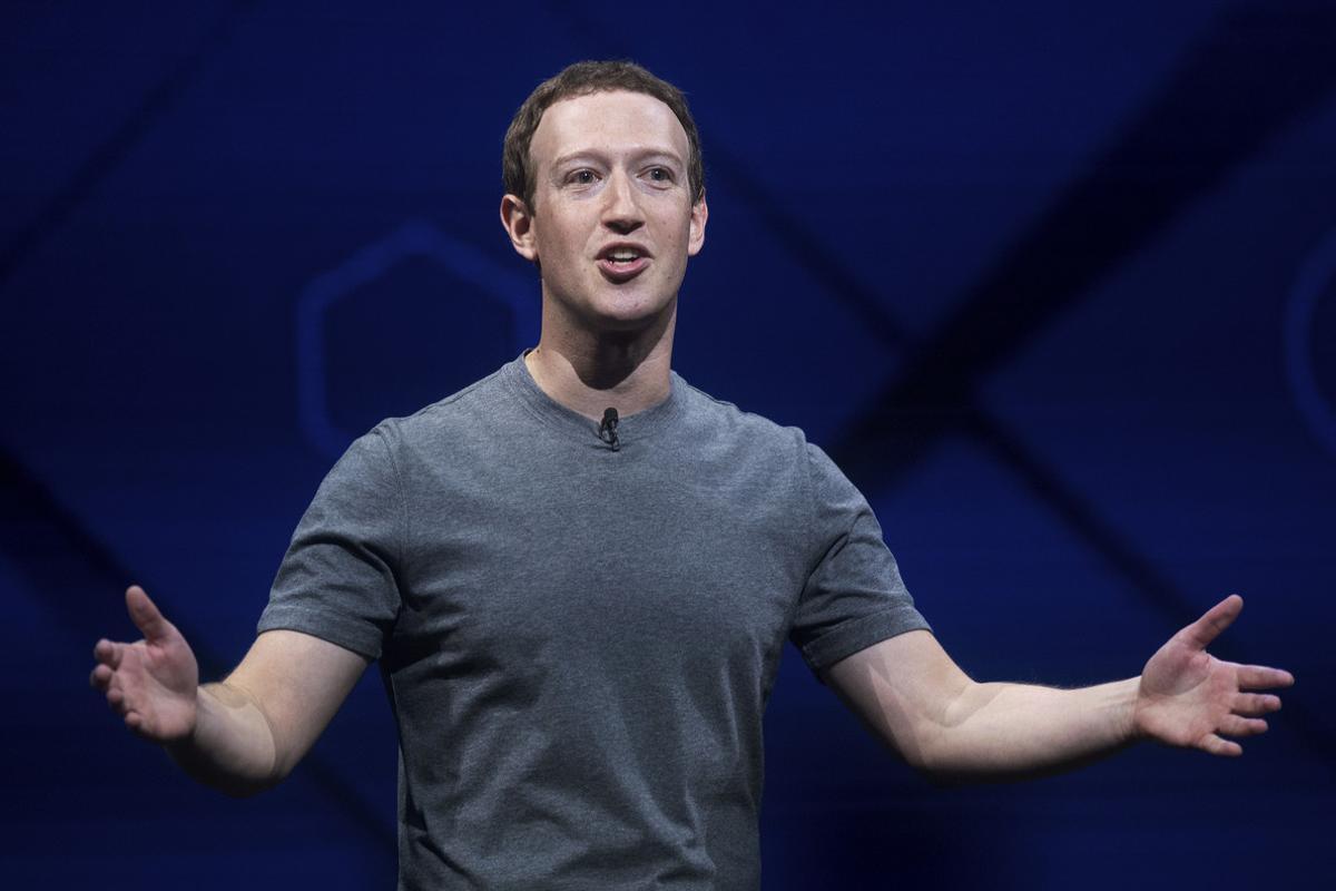 Mark Zuckerberg durante la conferencia del martes.