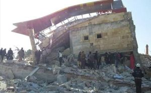Imagen de un hospital, apoyado por Médicos Sin Fronteras, destruido durante un ataque aéreo en Idleb.