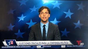 El periodista catalán en una intervención en la televisión norteamericana.