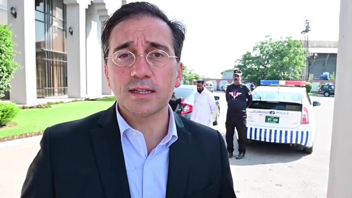 José Manuel Albares,ministro de Asuntos Exteriores,en su visita a Pakistán