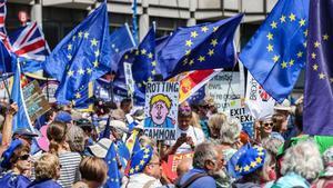 Park Lane ha sido el centro neurálgico donde se han citado los grupos en contra del Brexit.