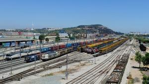 Panorámica del nodo ferroviario de Can Tunis.