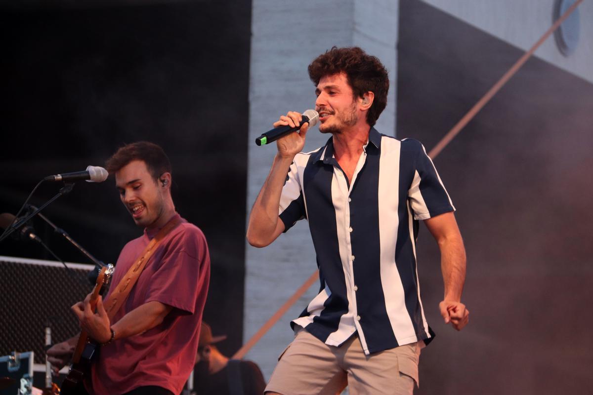 Miki Núñez durante el concierto del Cruïlla XXS, en 2020.