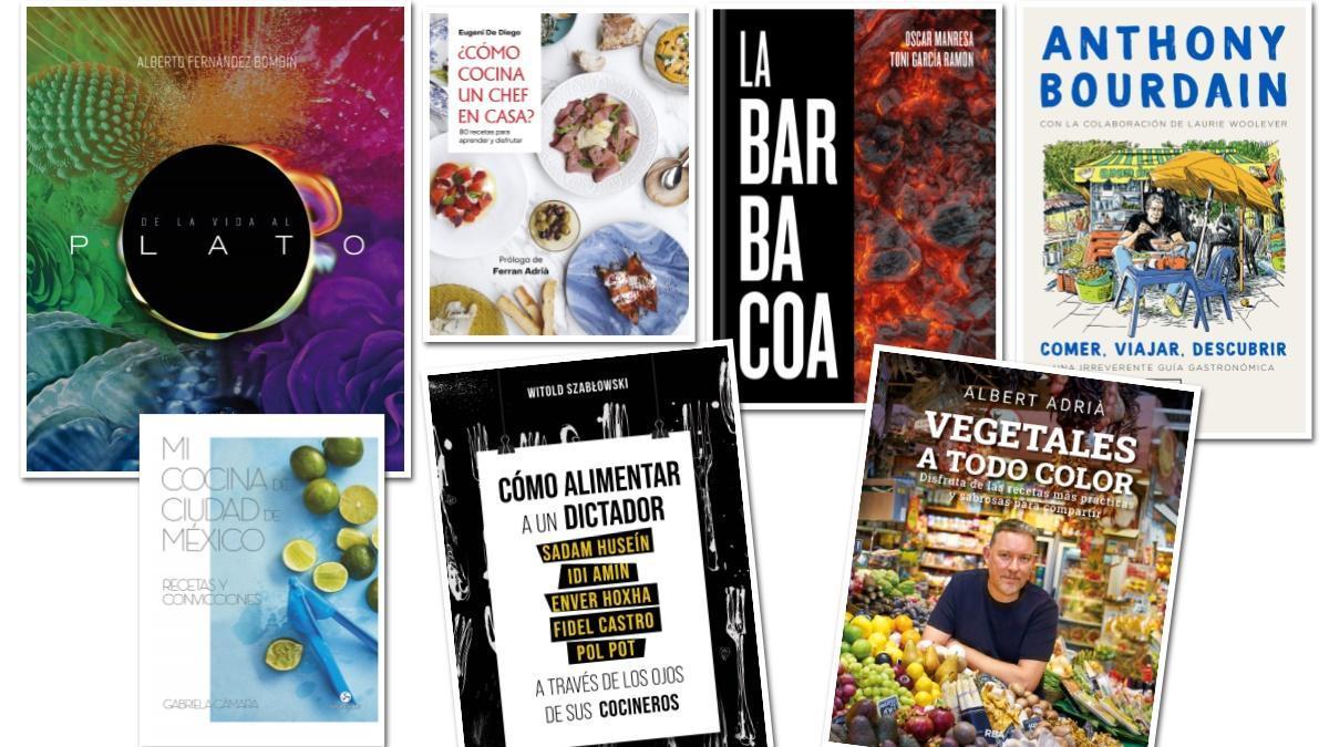 Una selección de libros de gastronomía para el verano.