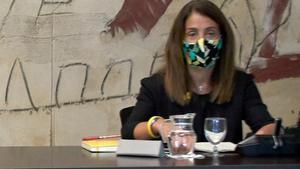 Meritxell Budó, en una reunión de Govern.
