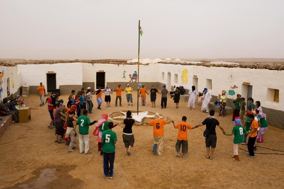 Campo de refugiados en Tinduf,