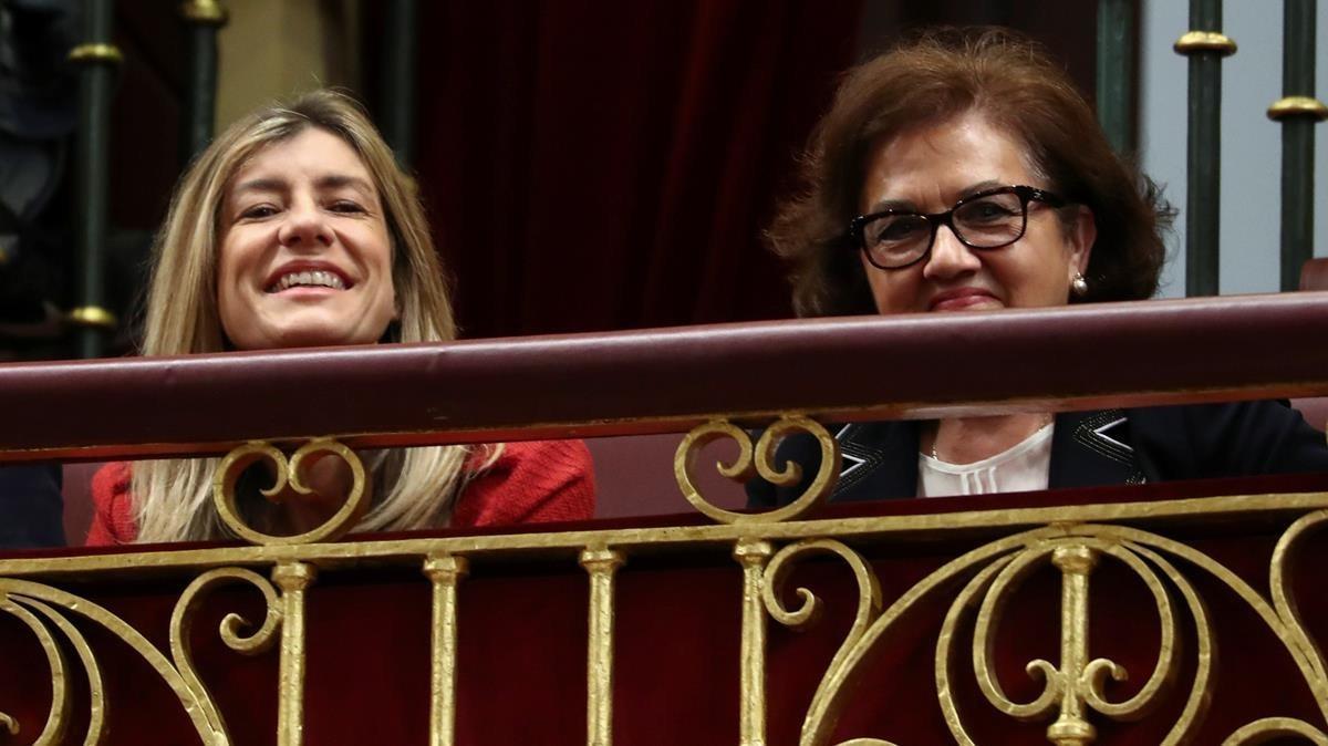 Begoña Gómez y Magdalena Pérez-Castejón, esposa y madre, respectivamente, de Pedro Sánchez.