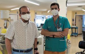 Carlos Mendoza, el último paciente de la primera oleada de la pandemia que seguía ingresado en el Hospital de Bellvitge.