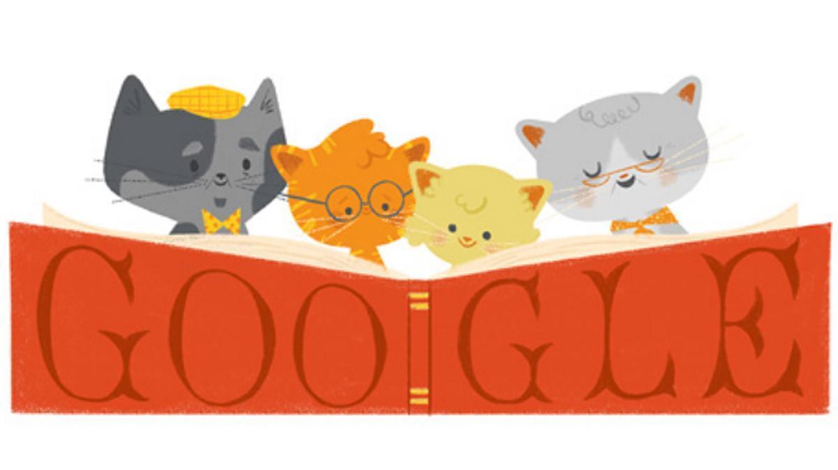 Google dedica su 'doodle' a los abuelos.